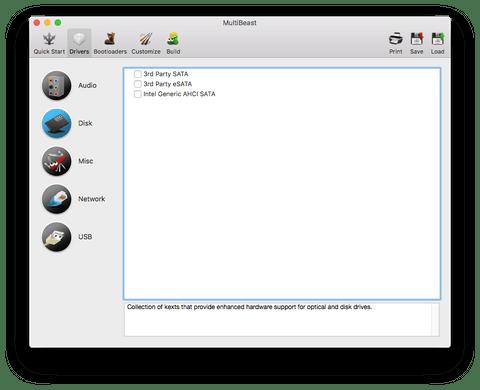 Раздел Disk в MultiBeast
