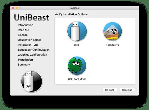 Installation в UniBeast